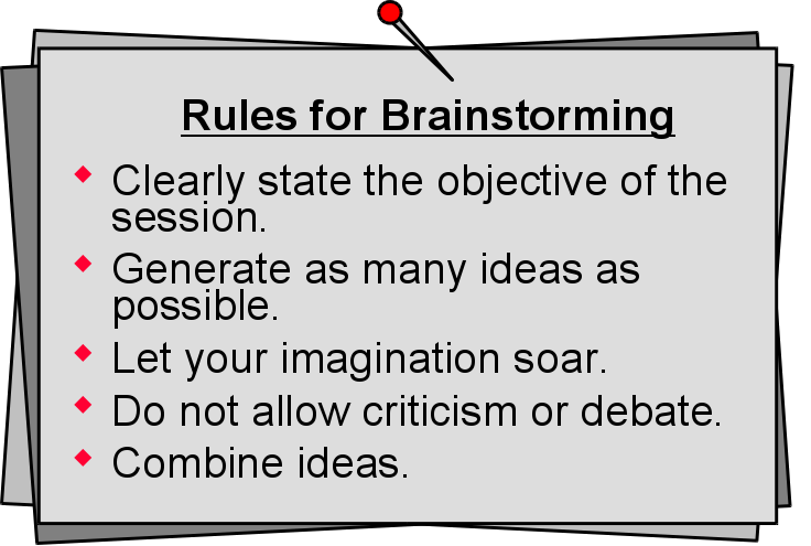rules for brainstorming ideas for essays